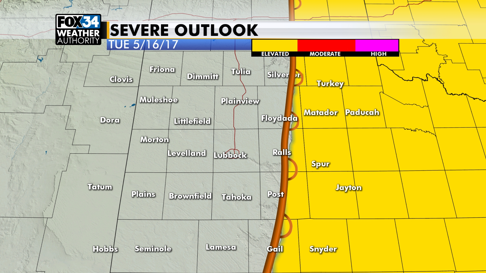 severe weather outlook tomorrow
