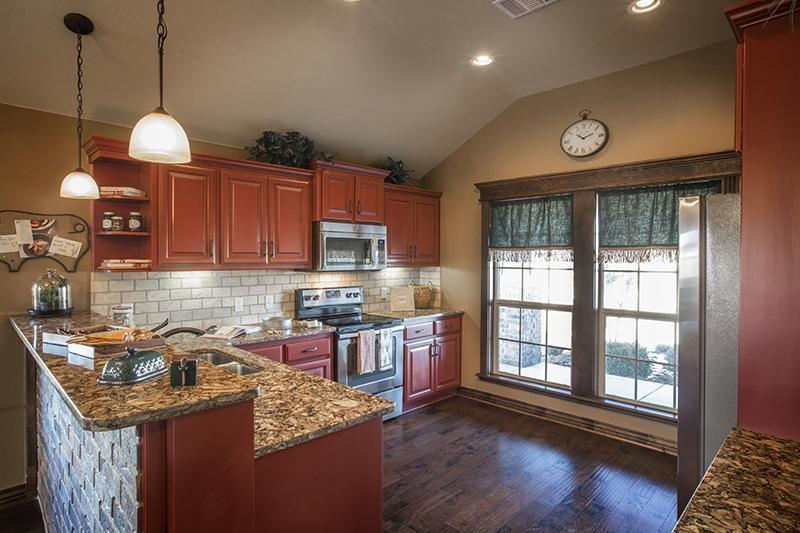 Model Home Kitchen photo gallery | new homes okc | ideal homes