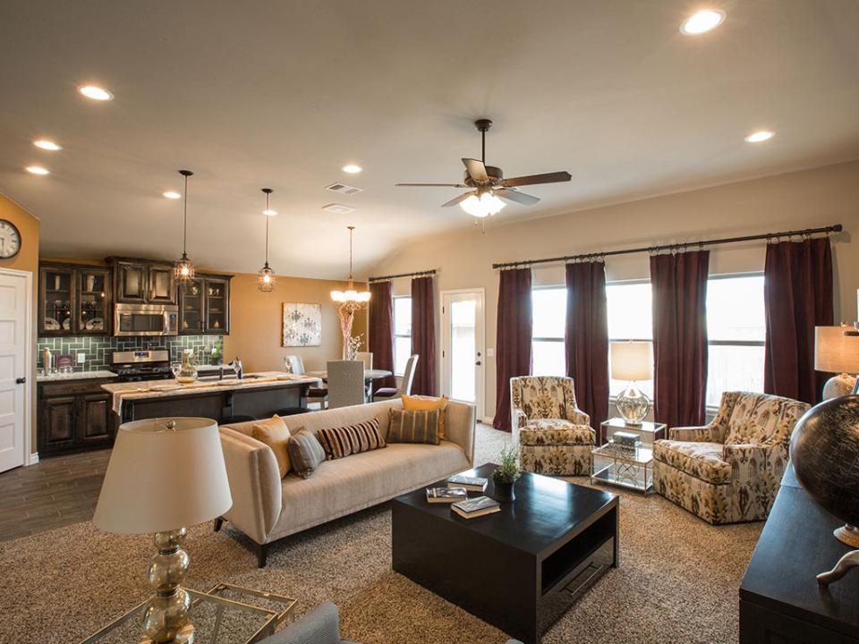 Unique Model Home Living Room Adornment - Home Design Ideas and ...