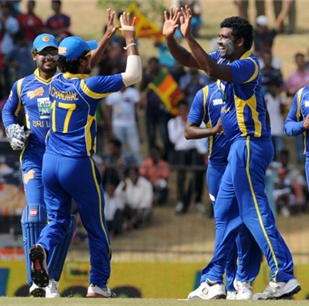 Perera, Mathews humble India