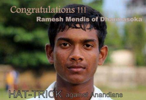 RAMESH MENDIS TAKES  A HAT-TRICK