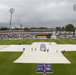 A washout ruins England's chance of surpassing Australia