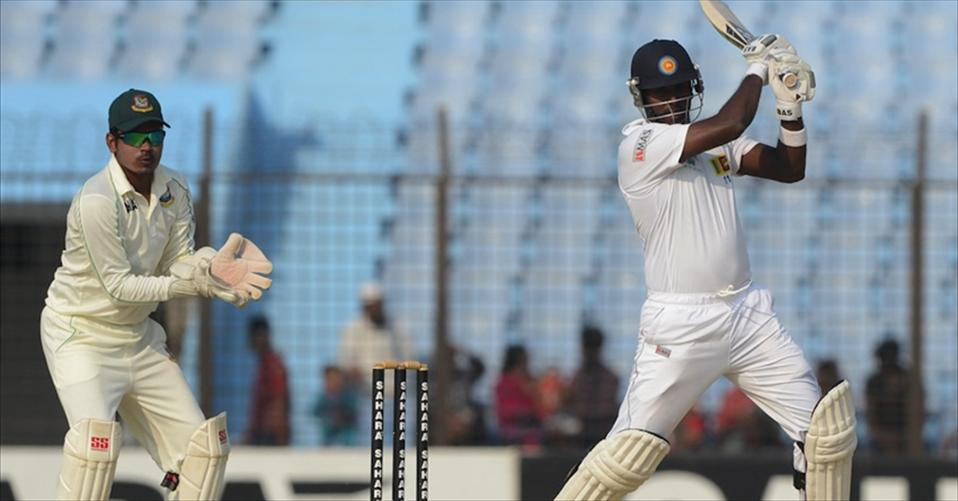 Angelo Mathews achieves a career-high sixth position in Test ranking