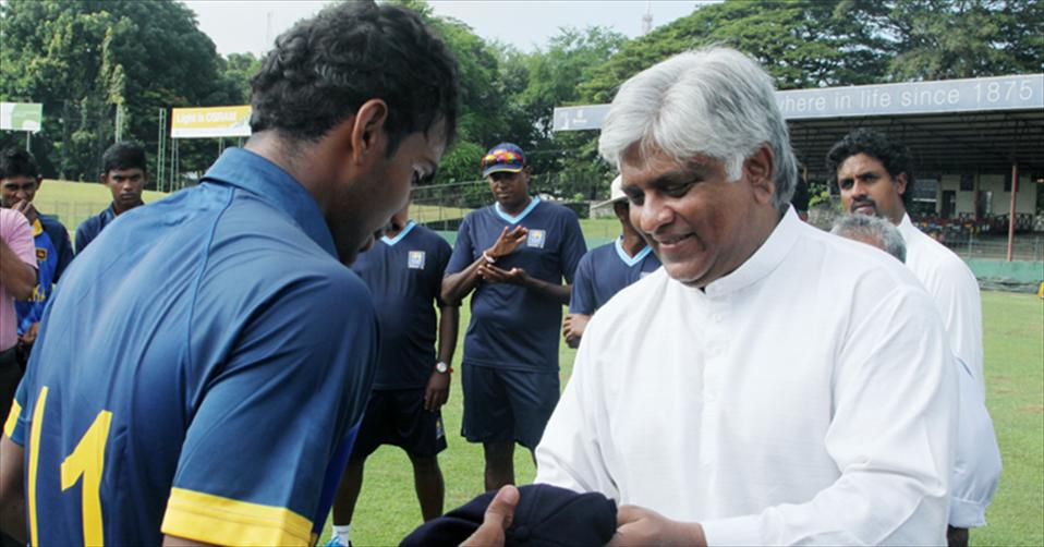 Arujuna in official Cap Presentation to SL-U19