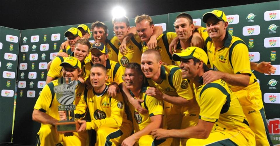 Aussies go to world cup as top ranked ODI team