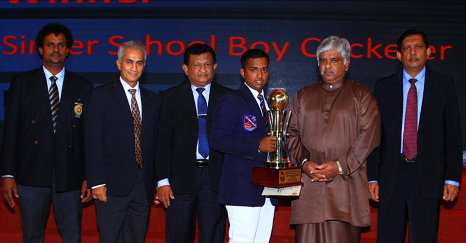 Charith crowned Singer School Boy Cricketer 2015