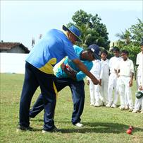 Cricket coaching camp at St.Benedict College