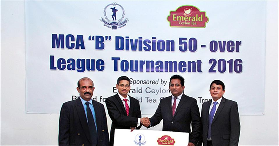 Emerald Ceylon Tea to sponsor MCA Div B