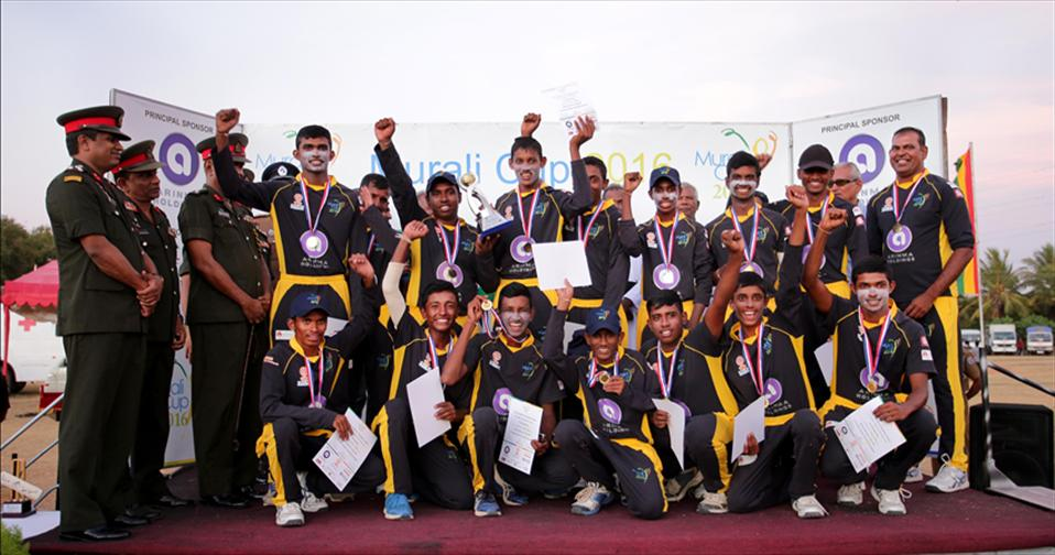 Mahinda win Mens-Final of Fifth Murali Harmony Cup 2016