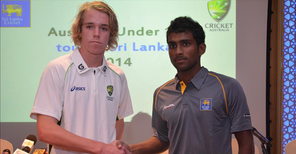 Press Conference - Australia U19 tour of SL-2014