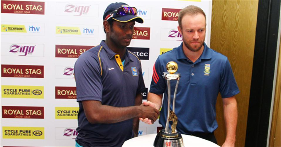 SA tour of SL 2014 trophy unveiling