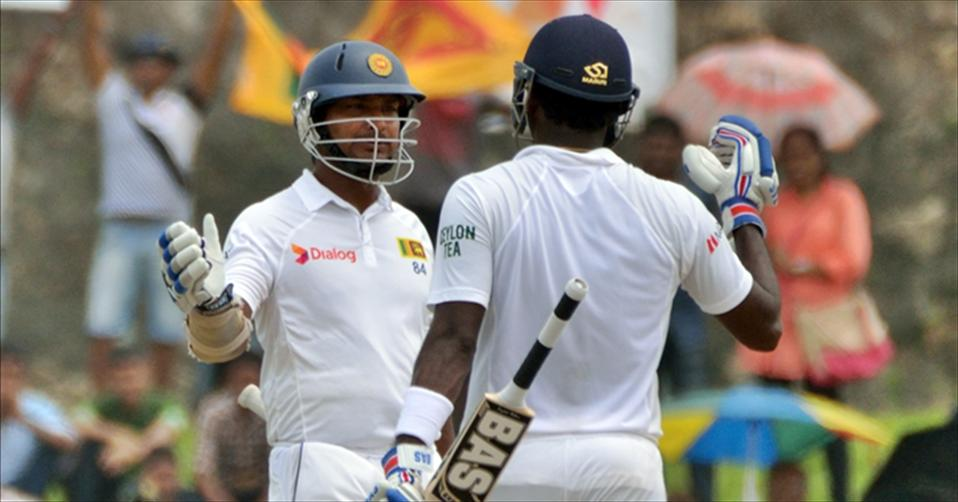 Sanga and Mathews climb up the Test rankings