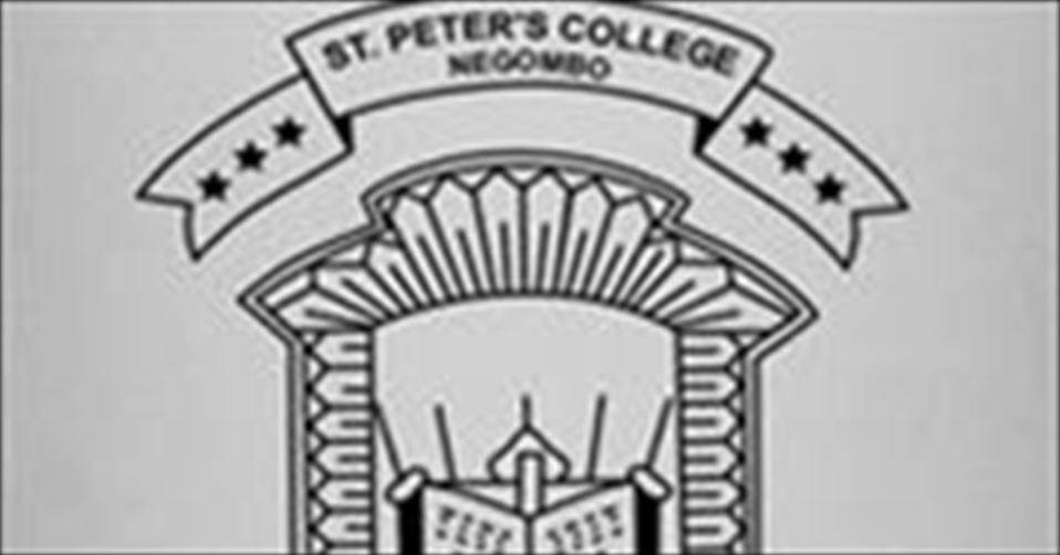 St.Peters College, Negombo: 2015/16 U19 D111 Champions