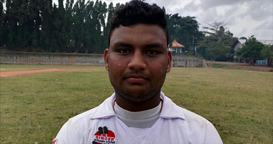 Tharindu Dinesh scores a record 287 for S de S Jayasinghe