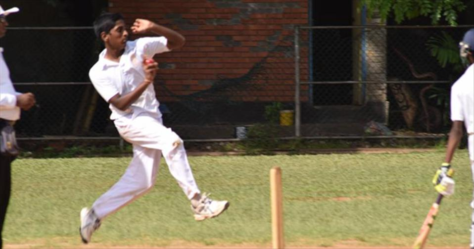Tharusha excells with the ball in U13 cricket