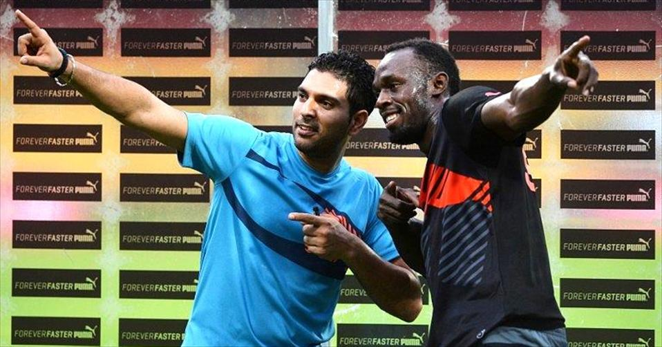 Usain Bolt hits five sixes to beat Team Yuvraj Singh