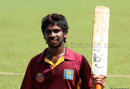 Niroshan Dickwella 105 against Baduraliya