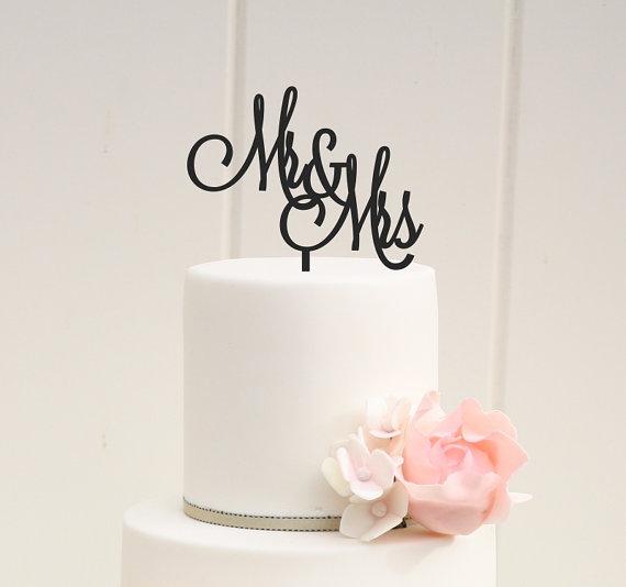 mrs cake topper