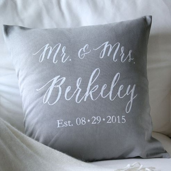 Married Name Change Pillow