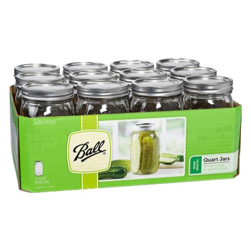 Ball Jars Wide Mouth Pint & Half (9/Cs)