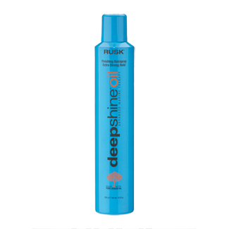 Rusk Deepshine Oil Finishing Hairspray - Extra Strong Hold 10.6 oz