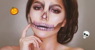 Pink Glam Skeleton/Skull Makeup Tutorial for Halloween 2018 🍂🎃