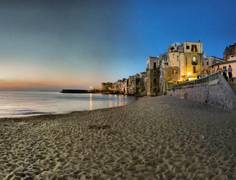 Playa de Cefalù, Sicilia
