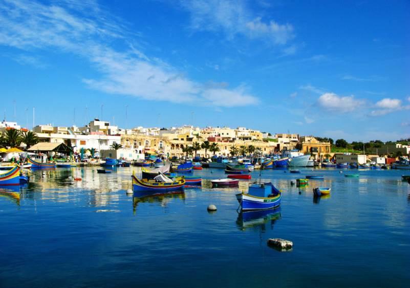 Costa de Marsaxlokk, en Malta