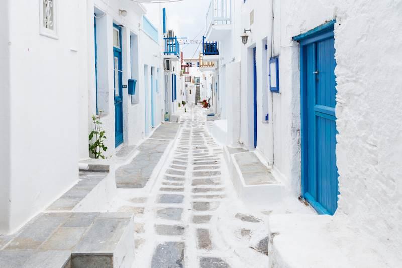 Calles de la Isla de Mykonos