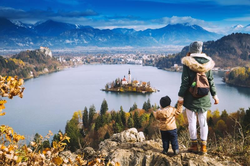 Visitando el Lago Bled en familia