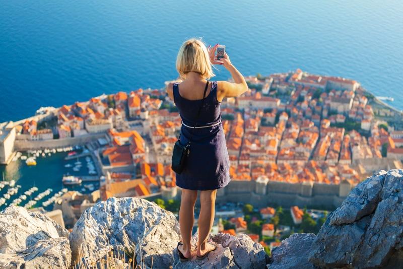 El casco antiguo de Dubrovnik, Croacia