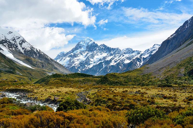 Paisaje de Nueva Zelanda