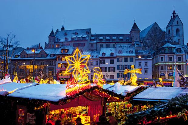 Mercado navideño en Montreaux