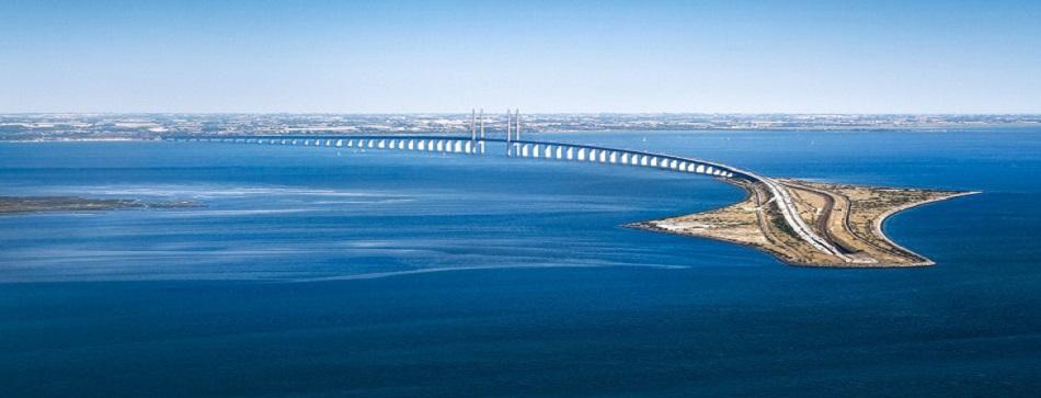 Puente Oresund entre Copenhague y Malmö