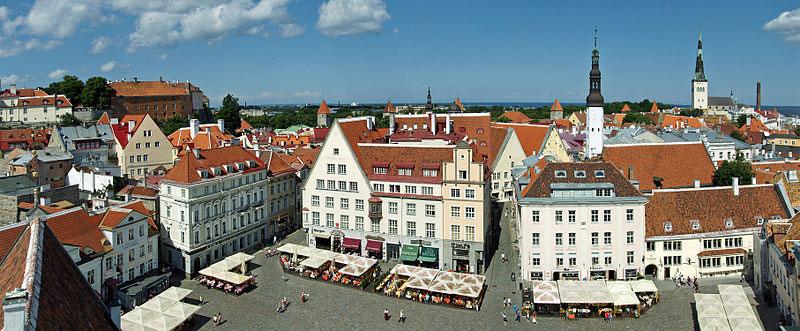 Plaza Raekoja, tallin (Estonia)