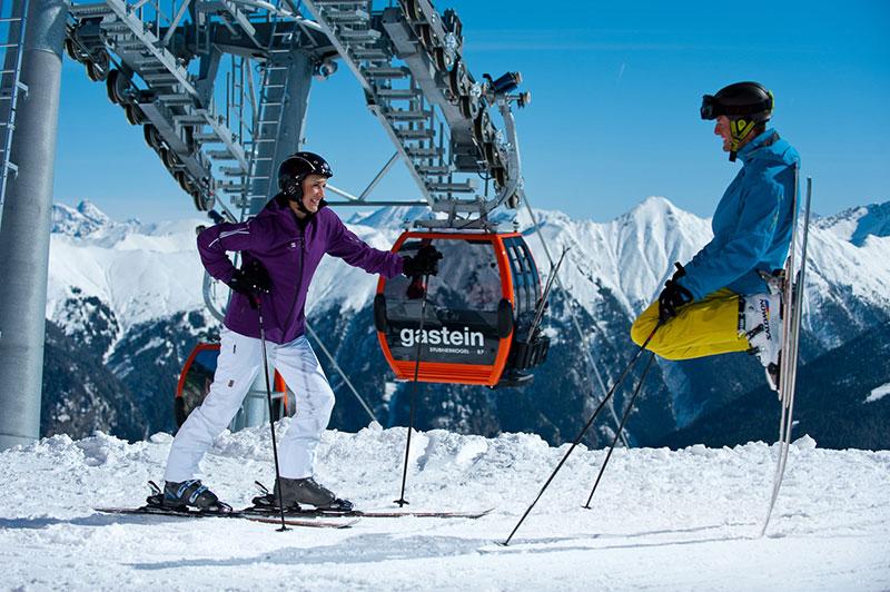 Estacion de esqui de gastein, austria