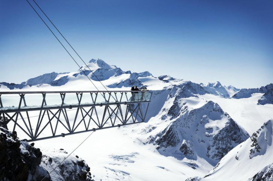 Mirador de la estacion de esqui de Solden