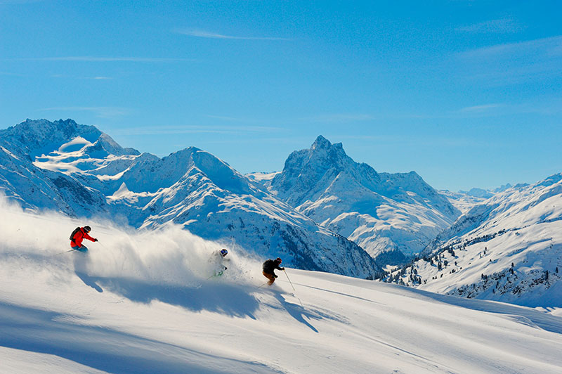 Estacion de esqui de St Anton, Austria