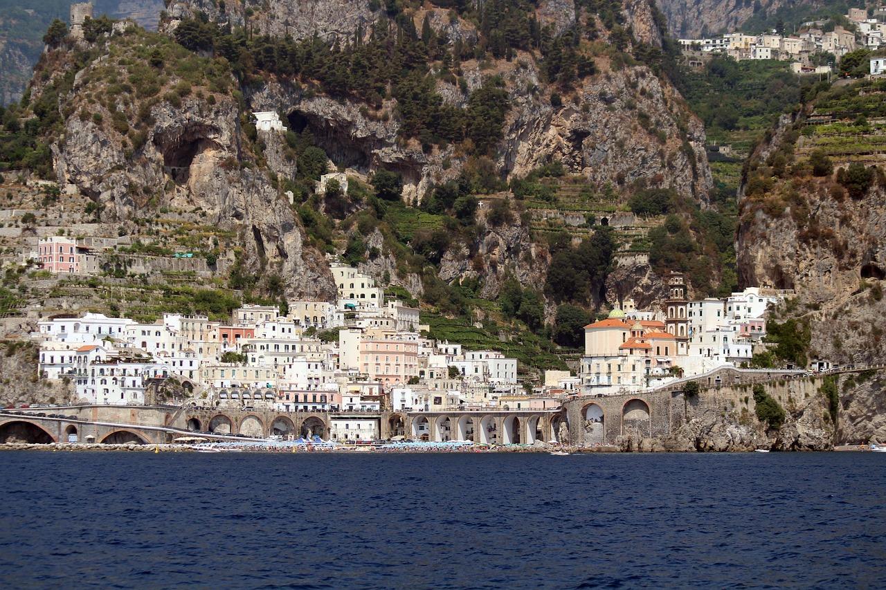 Pueblo de Atrani, en la Costa Amalfitana