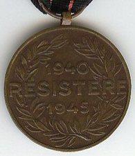 Armed resistance medal Belgium