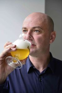 Head Brewer Hedwig Neven Drinks Duvel