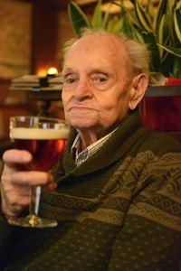 Meet Cesar Van Gorp, 91years-young. He is the oldest customer of café De Pelgrim,
