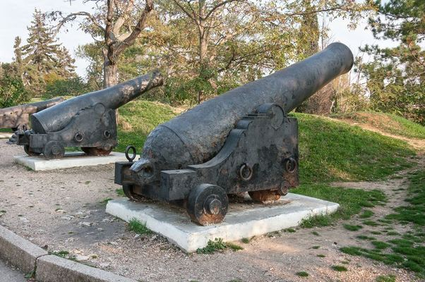 cannons from the Crimean War