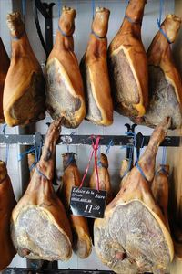 Belgian specialities, dried ham