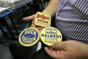 vintage beer mats