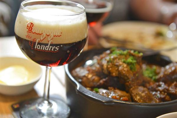 Stoofvlees (beef stew) with Bourgogne des Flandres