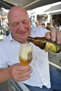 Brunehaut beer, Saint Martin Triple, Tournai market square