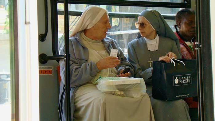 Nuns on a Tram, Rome