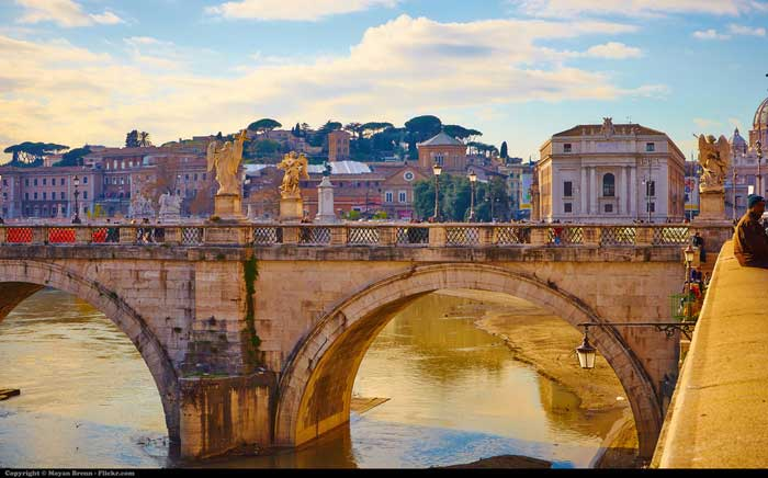 Bridge Over the Tevere River, Rome