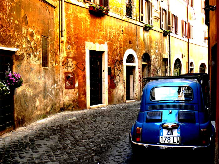 Famous Trastevere District, Rome